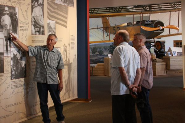 John Read describing Pancho Villa Raid details to Ric and Chi Chi