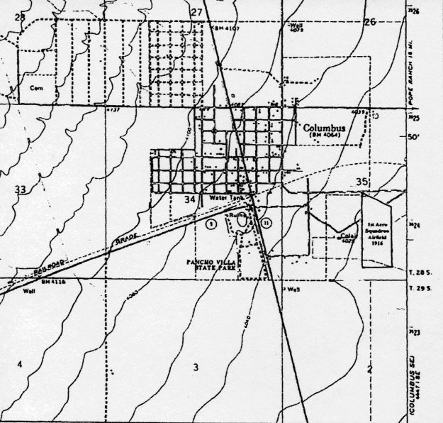 FAS Airfield Map of 1916-1917