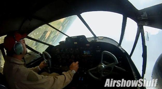 Airshow Stuff with Matt Younkin Twin Beech 18 Aerobatics Cockpit Cam