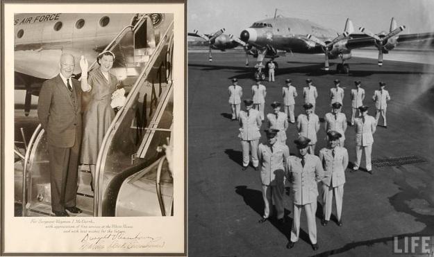Ike & Mamie EisenhowerLeavingOnColumbineII for Denver&Col.WilliamG.DrapterAC Cmdr007
