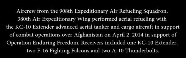 Air Refueling Over Afghanistand Description Text 001