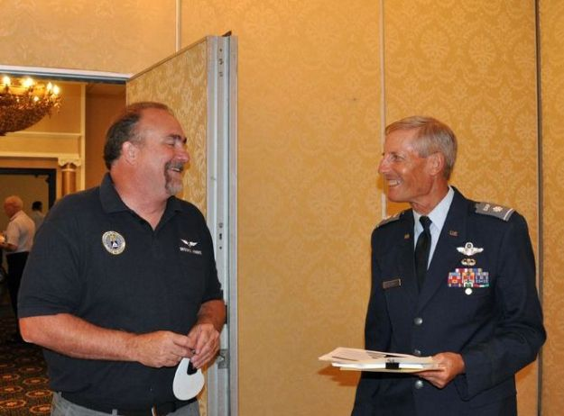 CAP Conference FASF Members Brooks Hindes and Col. Alan Fisher (Cropped) 001