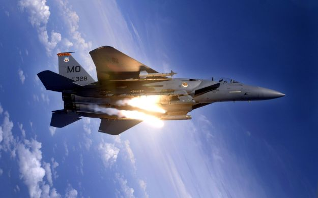 F-15 Launching Flares - Action 001