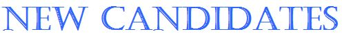 Headline - New Candidates in Castellar Font