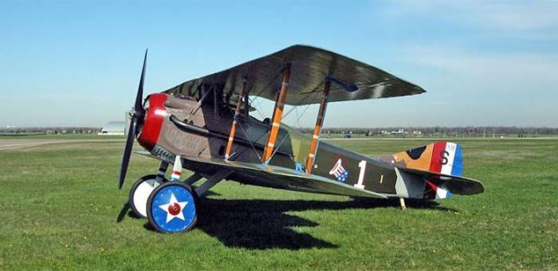 Same French Spad XIII used by US Ace, Eddie Rickenbacker in WWI