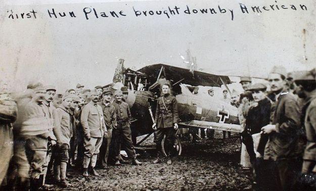 First Hun Plane Shot Down by An American 005