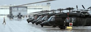 Medical Air Evacuation Helicopters of the 1st Armored's CAB at Ft. Bliss