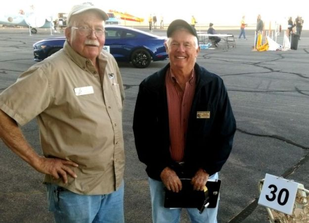 Pilot Ed Rusch and Charlie Overstreet, FASF Member and Safety Briefer 003