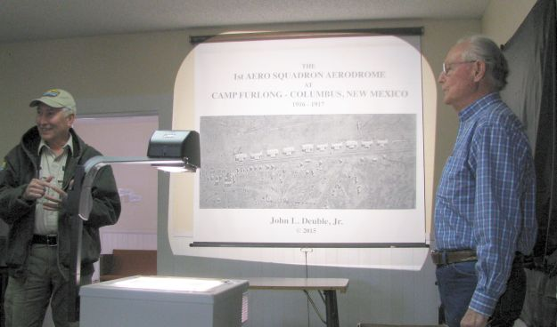 (10)7019-FASF Members John Read & Historian John Deuble at his presentation[ClrAdj]