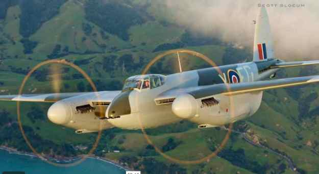 Scott Slocum Photo of Mosquito over NZ 001