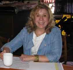 VP, Dr. Kathleen Martin enjoying a fresh cup of java.
