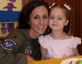 Colonel Christine Mau and Her Daughter
