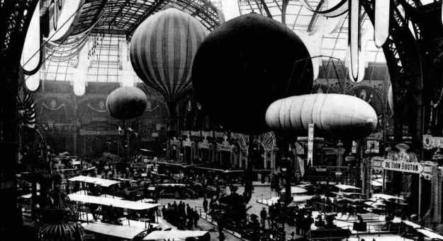 1908-Paris Motor Show - Hot Air to Heavy Metal (with early airplanes) 001