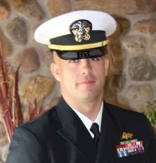 Navy Lt. David Grandson Seabee Blue Unif.