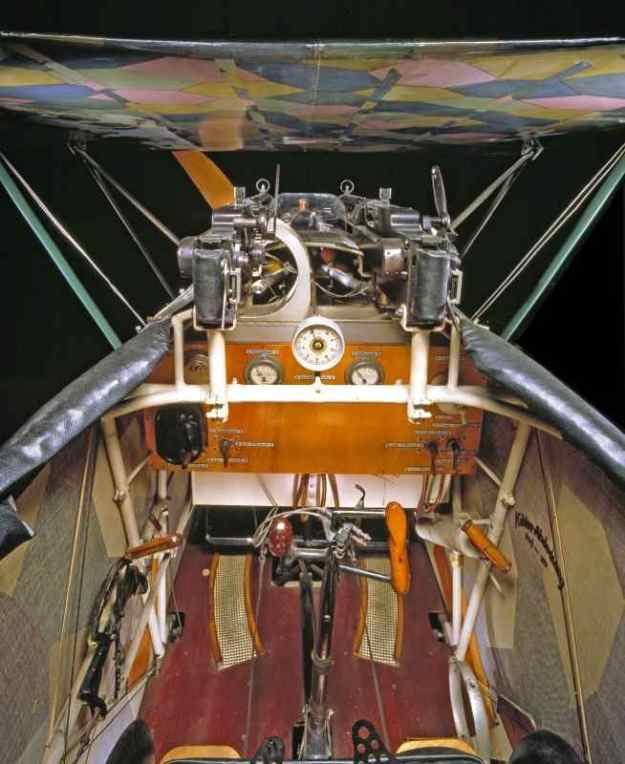 1916 - Fokker DVII German Fighter Aircraft from WWI - Flown by famous Ace Baron Von Richtofen