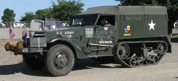 ~U.S. Army WWII Half-track vehicle