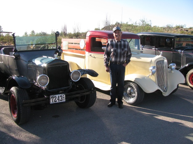 FASF member, Carlos Sepulveda and his three classic cars entered int he PVSP Antique Car Show.