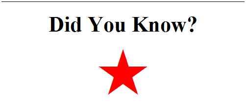 Did Yoou Know - Red FAS Emblem Star Column Header