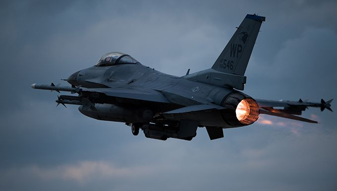 F-16 Fighter Crashes on NM Training Mission – Pilot Ejects