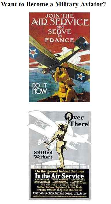 'Want to Become a Military Aviator' Graphic