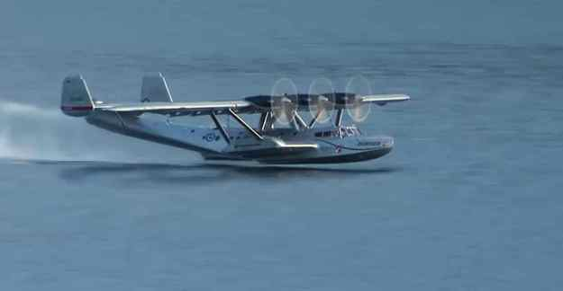 120915-3 Engined Dornier Seaplane Taking Off