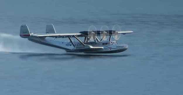 120915-3 Engined Dornier Seaplane Taking Off