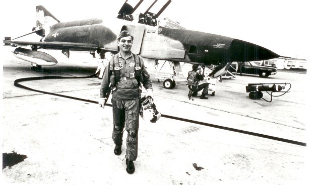 General Cardenas walking from his USAF F4 Fighter Jet in Vietnam. He was Commander of the 835th Division.