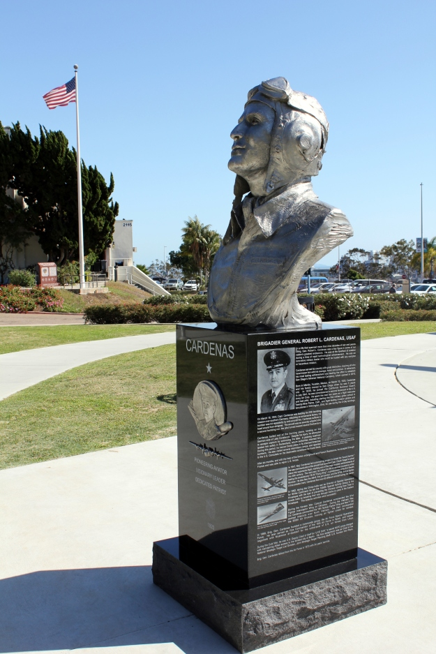 Statue of General Cardenas erected in his honor in his home town of San Diego by the grateful city.