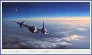 Kristin Hill Painting of SR-71(Chariot of Nyx) w MG Halloran's Autograph