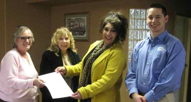 L to R above: Kathy Quarrell of Luna County Abstract & Title Co.; FASF VP Kathleen Martin, PhD; FASF Treasurer, Alma Villezcas; FASF Corporate Secretary, Josh Plasencio showing off final two warranty deeds to the FAS 1916-17 Airfield