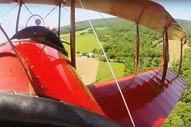 Pennsylvania based restored Jenny takes off and flies . .
