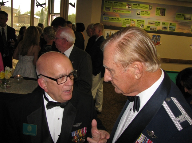 Above L to R: Roger Nichols and Colonel Bob Pitt.