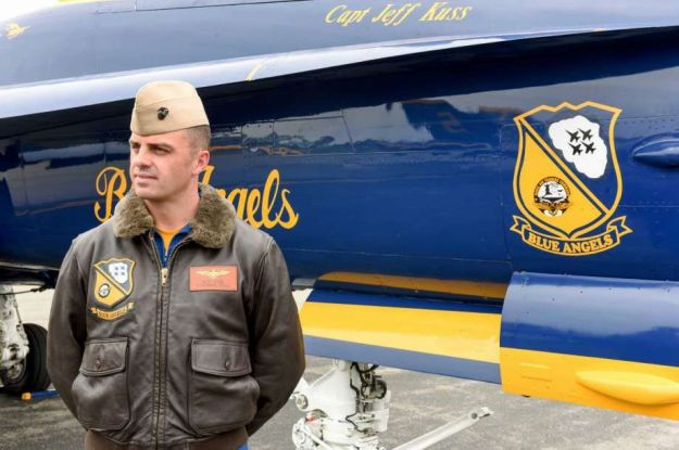 USMC Captain Jeff Kuss by his Blue Angle No. 6