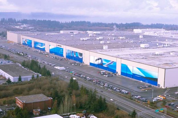 At the time of this photo of the Boeing Factory, it was known as the world's largest building.
