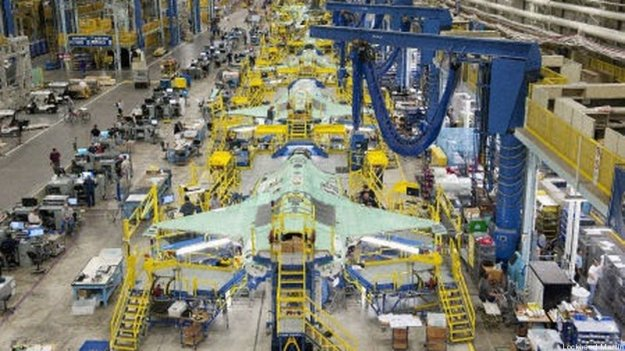 F-35A's on Lockheed-Martin Production Line