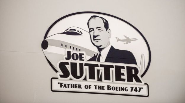 "An artist's depiction of the ""Father of the 747"""