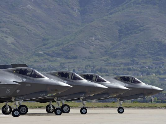 Four F-35 Lightning II aircraft prepare for takeoff at Hill Air Force Base, Utah, on May 4, 2016. Hill is home to the first operational squadron of F-35s, declared ready for battle on Aug. 2, 2016.(Photo: Paul Holcomb/US Air Force)