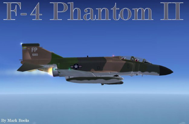 F4 Phantom with Afterburners ablaze