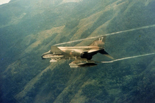USAF Phantom on mission over Vietnam