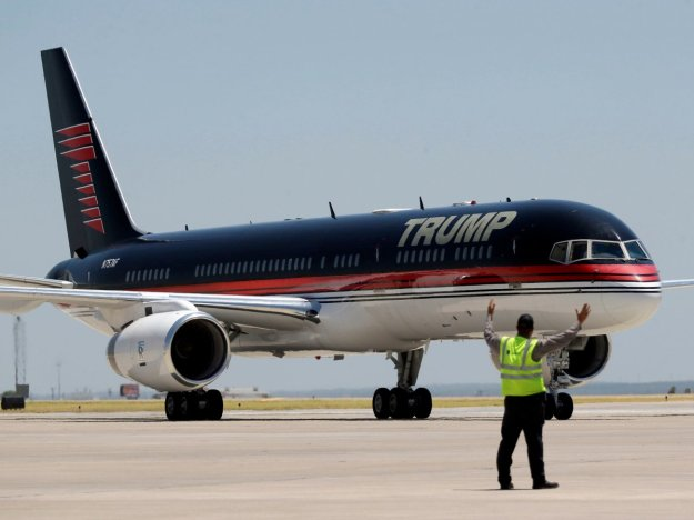 "Donald J. Trump's Boeing 757-200 Corporate Jet, which he affectionately calls his ""T-Bird"""