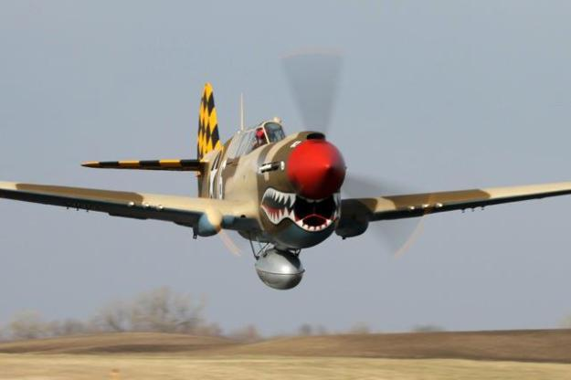 Warhawk (also sometimes known as the Tomahawk) makes low pass over the desert.
