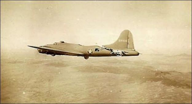 That almost completey severed B-17 tail - still flying