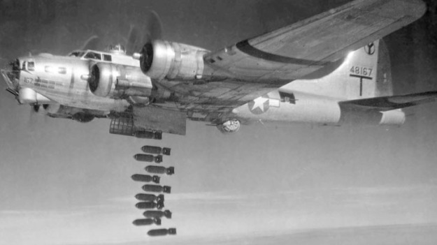 B-17 Dropping its payload over Germany in WWII