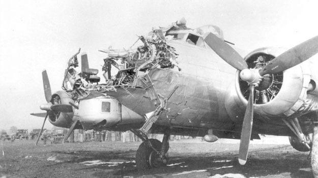 B-17G after raid on Cologne Germany WWII