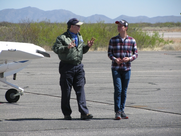 After each flight the EAA Pilot carefully debriefs each Young Eagle and answers their questions