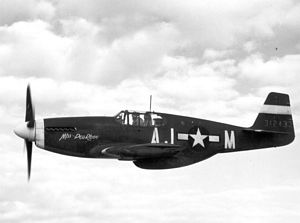 "P-51A, ""Miss Pea Ridge"" in Flight"