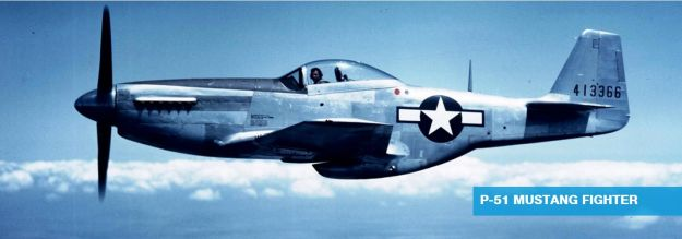 North American Aviation P-51 Mustang in Flight