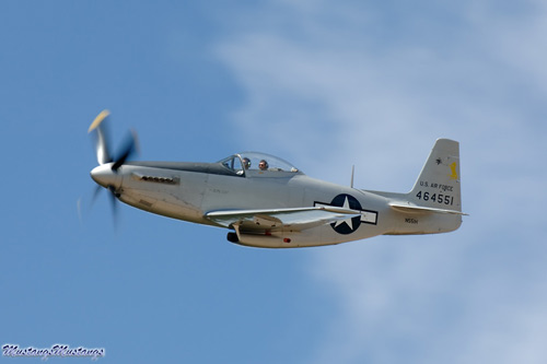 Last Mustang Model, the P-51H, seen in flight