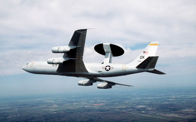 USAF AWACS Aircraft similar to one of which Kellly Bieber is the Aircraft Commander